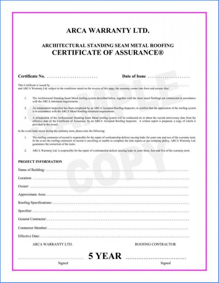 038 Template Ideas Certificate Of Final Completion Form For For Quality Certificate Of Inspection Template