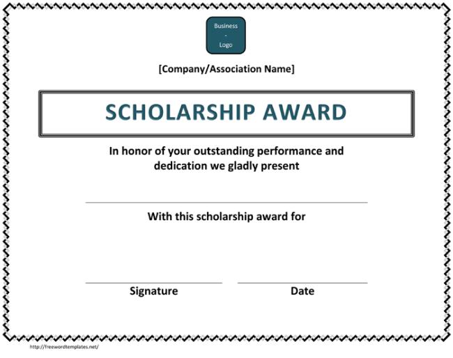 10+ Free Scholarship Award Certificate Templates (Word | Pdf) Within Quality Scholarship Certificate Template Word