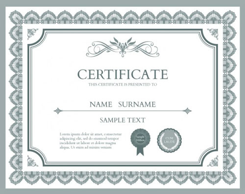 10 Sets Of Free Certificate Design Templates | Designfreebies For Indesign Certificate Template