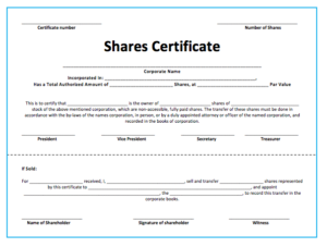 10+ Share Certificate Templates   Word, Excel & Pdf Intended For Best Template Of Share Certificate