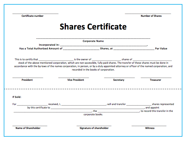 10+ Share Certificate Templates | Word, Excel & Pdf Intended For Best Template Of Share Certificate