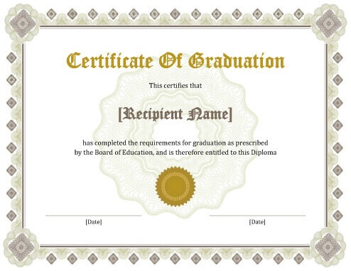 11 Free Printable Degree Certificates Templates | Hloom Pertaining To Professional College Graduation Certificate Template