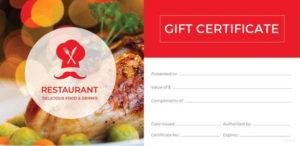 12+ Restaurant Gift Certificate Templates Doc, Psd, Eps Inside Restaurant Gift Certificate Template