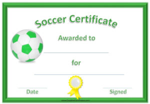 13 Free Sample Soccer Certificate Templates Printable Samples For Soccer Certificate Templates For Word