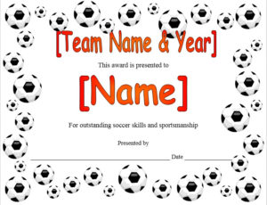 13 Free Sample Soccer Certificate Templates Printable Samples Pertaining To Quality Soccer Certificate Templates For Word