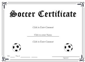 13+ Soccer Award Certificate Examples Pdf, Psd, Ai With Soccer Certificate Templates For Word