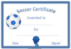 13+ Soccer Award Certificate Examples Pdf, Psd, Ai Within Best Soccer Certificate Template
