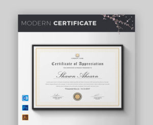 18 Best Free Certificate Templates (Printable Editable Pertaining To Best Small Certificate Template