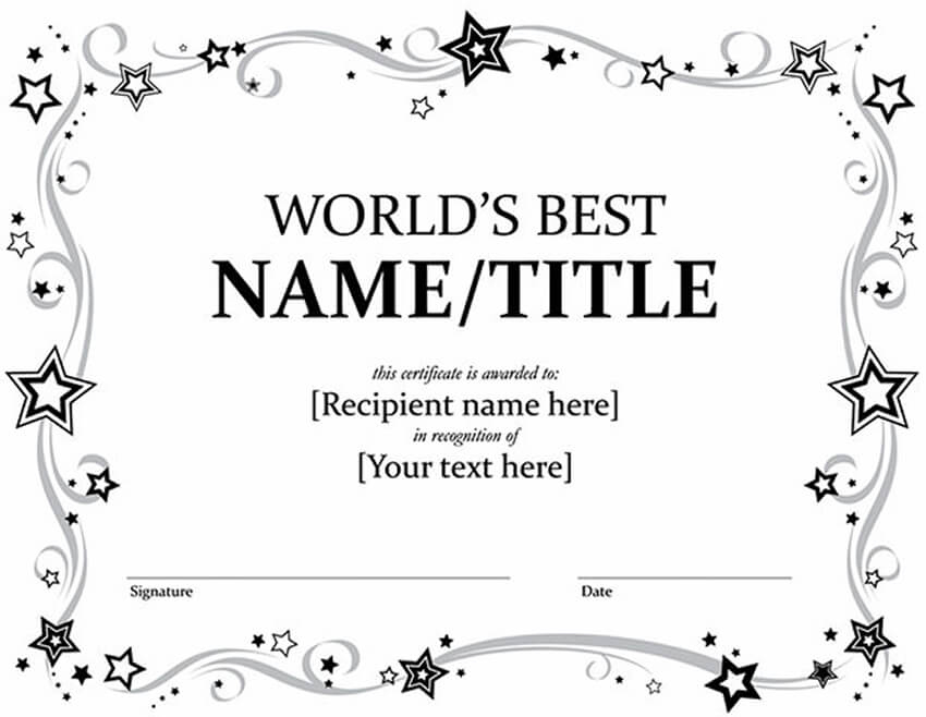 20 Best Free Microsoft Word Certificate Templates (Downloads With Regard To Free Award Certificate Templates Word 2007