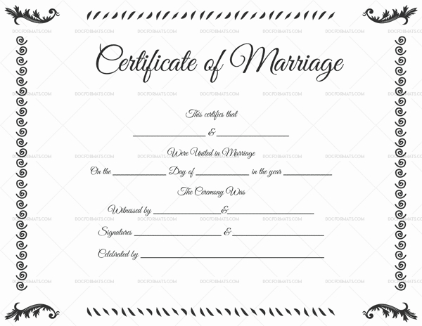 22+ Editable Marriage Certificate Templates (Word And Pdf Regarding Certificate Of Marriage Template