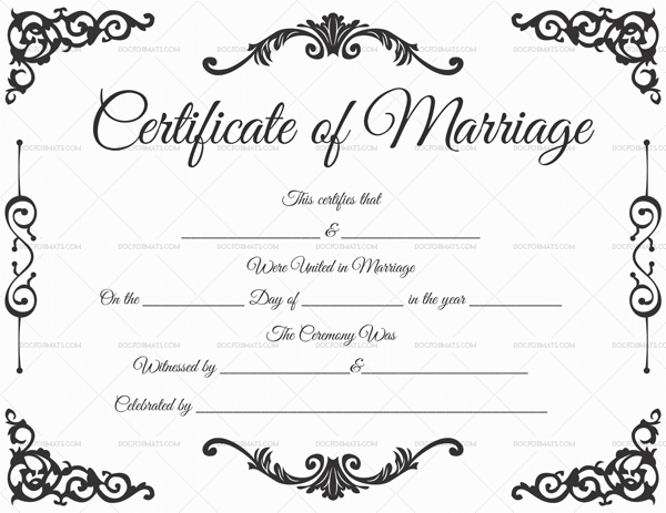 22+ Editable Marriage Certificate Templates (Word And Pdf Throughout Certificate Of Marriage Template