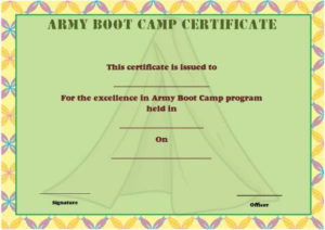 25+ Boot Camp Certificate Templates To Download And Use Within Boot Camp Certificate Template