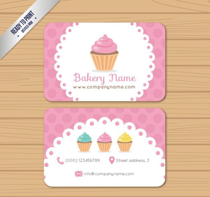 25 Free Pink Business Card Templates For Download Intended For Cake Business Cards Templates Free