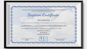 27+ Sample Baptism Certificate Templates Free Sample In Free Christian Baptism Certificate Template