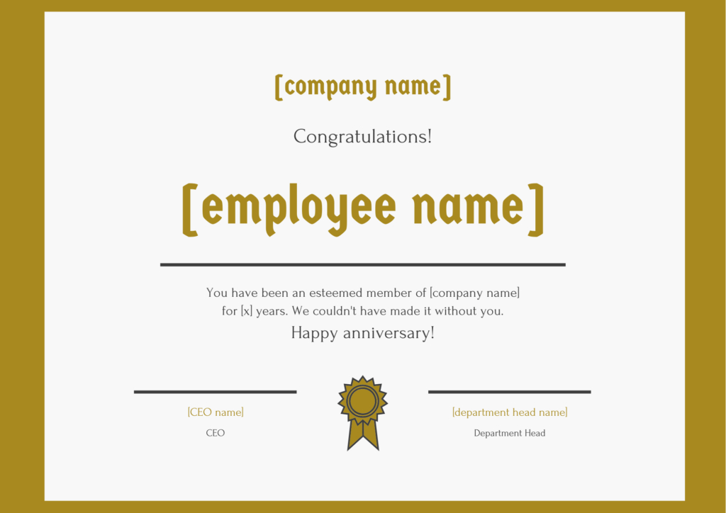 30 Employee Work Anniversary Ideas, Messages, Emails And Pertaining To Free Employee Anniversary Certificate Template