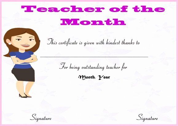 30 Free Printable Student Of The Month Certificate Templates Within Best Teacher Of The Month Certificate Template