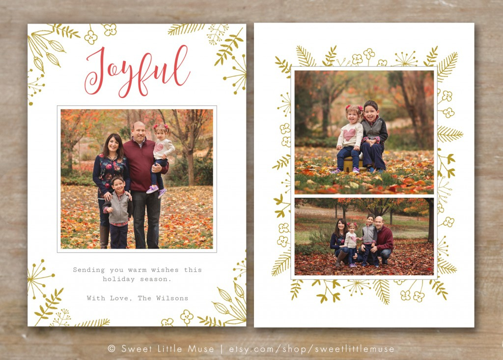 30 Holiday Card Templates For Photographers To Use This Year Intended For Free Photoshop Christmas Card Templates For Photographers