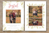 30 Holiday Card Templates For Photographers To Use This Year With Holiday Card Templates For Photographers