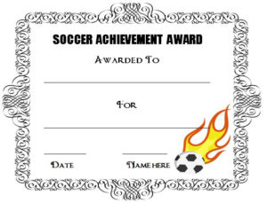 30 Soccer Award Certificate Templates Free To Download Within Best Soccer Certificate Template