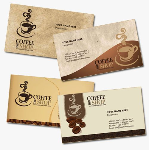 4 Business Card Templates For Coffee Shops | Grafis With Regard To Coffee Business Card Template Free