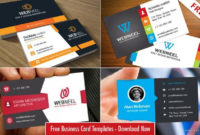 40 Professional Free Business Card Templates With Source Within Professional Professional Business Card Templates Free Download