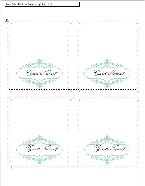 46 How To Create Name And Place Card Templates Psd File In 11+ Free Place Card Templates Download