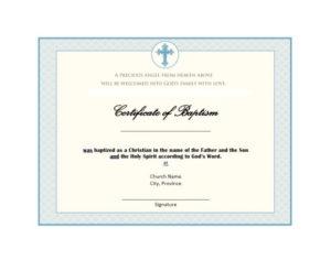 47 Baptism Certificate Templates (Free) Printable Templates For Christian Baptism Certificate Template