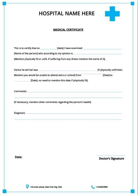 5 [Genuine] Fake Medical Certificate Online   Every Last Intended For Free Fake Medical Certificate Template Download