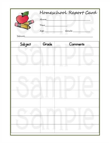 5 Reasons Homeschoolers Should Use Report Cards (Printable Within Quality Homeschool Report Card Template Middle School