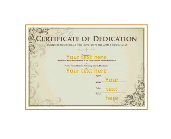50 Free Baby Dedication Certificate Templates Printable Regarding 11+ Baby Dedication Certificate Template