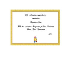 50 Free Certificate Of Recognition Templates Printable In Recognition Of Service Certificate Template