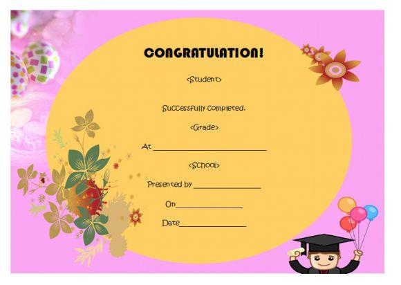 5Th Grade Graduation Certificate Template : 24+ Printable For 5Th Grade Graduation Certificate Template