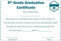5Th Grade Graduation Certificate Template Free   Graduation Regarding 5Th Grade Graduation Certificate Template