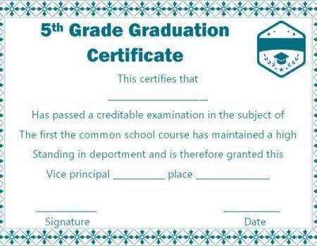 5Th Grade Graduation Certificate Template Free | Graduation Regarding 5Th Grade Graduation Certificate Template