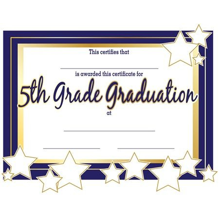 5Th Grade Graduation Certificates | Anderson'S | Graduation Pertaining To Best 5Th Grade Graduation Certificate Template