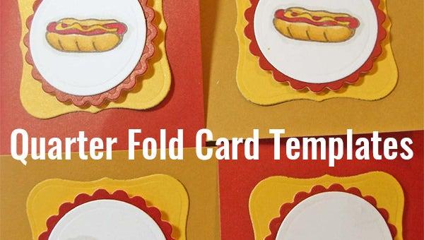 6+ Quarter Fold Card Templates Psd, Doc | Free & Premium In Quarter Fold Greeting Card Template