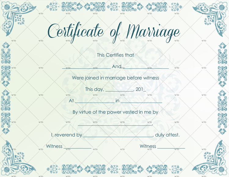 60+ Marriage Certificate Templates (Word | Pdf) Editable Within Printable Certificate Of Marriage Template