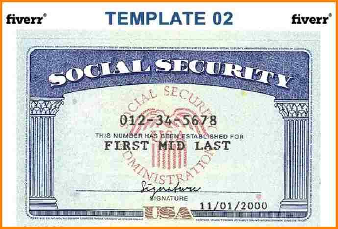 7+ Blank Social Security Card Template Download | Timesheet Within Blank Social Security Card Template Download