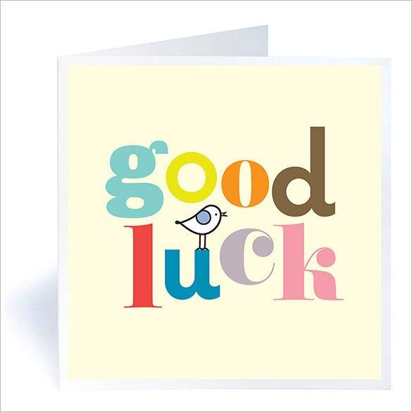 7+ Good Luck Card Templates Psd, Eps | Free & Premium With Quality Good Luck Card Template