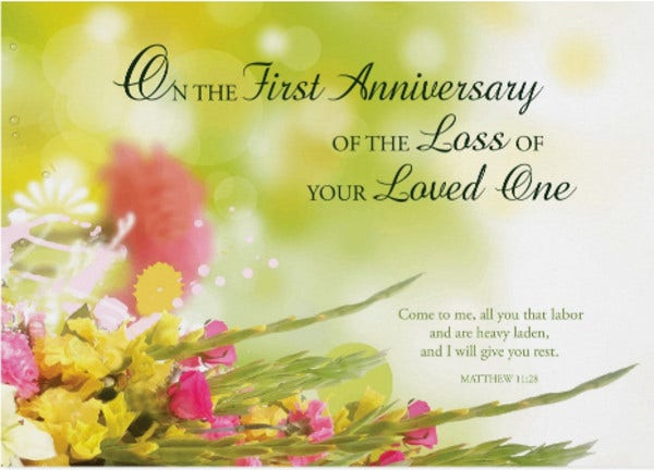 75+ Card Templates Ai, Psd, Google Docs, Apple Pages Throughout Death Anniversary Cards Templates