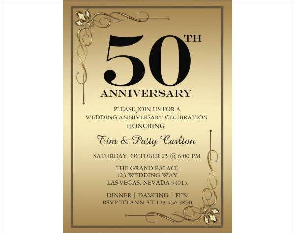 8+ 50Th Anniversary Card Designs & Templates Psd, Ai In Printable Death Anniversary Cards Templates