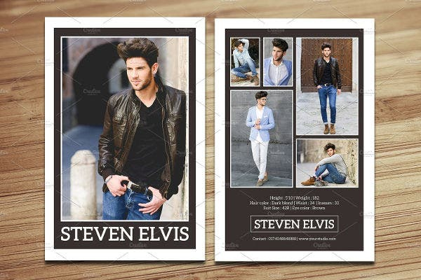 8+ Comp Card Templates Free Sample, Example, Format With Regard To Model Comp Card Template Free