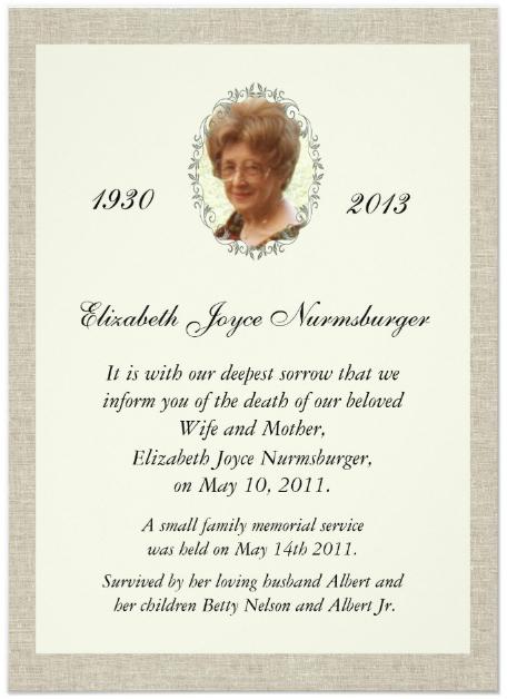 9+ Death Announcement Card Designs & Templates Psd, Ai In Death Anniversary Cards Templates