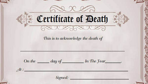 9+ Death Certificate Template – Free Sample, Example Format Within 11+ Baby Death Certificate Template