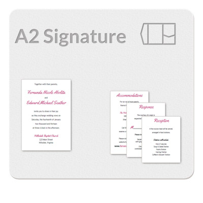 A2 Signature Invitation Template With A2 Card Template