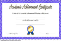 Academic Achievement Certificate Template 1 Free | Awards For Academic Award Certificate Template