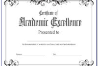 Academic Award Certificate Template Free | Vincegray2014 Within 11+ Academic Award Certificate Template