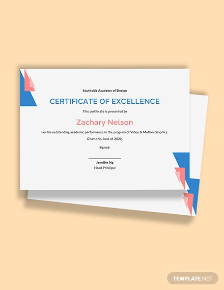 Academic Excellence Award Certificate Template Word (Doc Within 11+ Academic Award Certificate Template