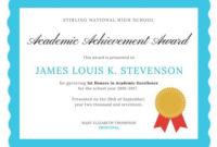 Academic Excellence Certificate | Awards Certificates Inside 11+ Academic Award Certificate Template