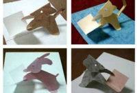 Animal Papercraft Template And Pattern For Pop Up Card Set 1 Inside Diy Pop Up Cards Templates